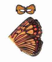 Dans monarch oranje vlindervleugels kinderen