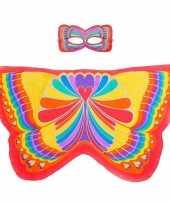Dans regenboog rode vlindervleugels kinderen