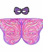 Dans roze paarse vlindervleugels kinderen