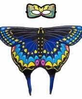 Dans zwaluwstaart blauwe vlindervleugels kinderen