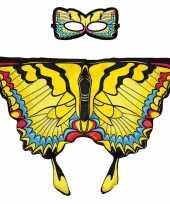 Dans zwaluwstaart gele vlindervleugels kinderen