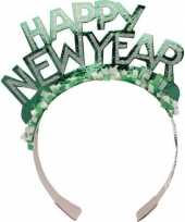 Diadeem happy new year groen volwassenen