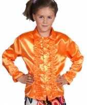 Disco blouse oranje kinderen