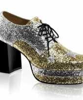 Disco heren schoenen zilver goud