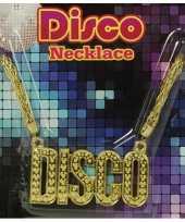 Disco ketting goud