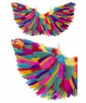Engel verkleed vleugels regenboog veren