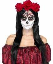 Festival haarband rode rozen