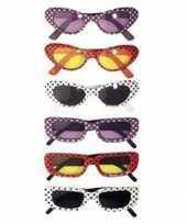 Fifties bril diverse kleuren