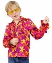 Gekleurde disco blouse kinderen