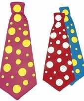 Gekleurde mega stropdas stippen