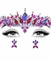 Gezichtsjuwelen prinses verkleed sticker set zelfklevend