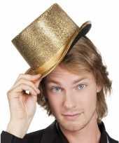 Glimmende gouden hoge hoed