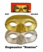 Glitter oogmasker goud of zilverkleur