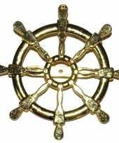 Gouden matroos zeeman verkleed broche scheepsroer