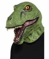 Groen dinosaurus masker volwassenen