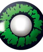 Groen reptiel print kleurlenzen