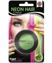 Groene glow the dark haarkrijt
