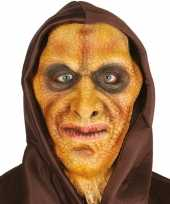 Hagedis man horror masker latex capuchon