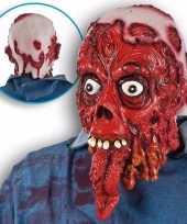 Halloween bloederig masker lange tong