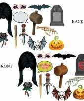 Halloween foto prop set halloween dubbelzijdig
