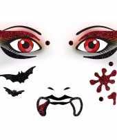 Halloween gezicht stickers vampier vel