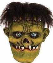 Halloween groen eng halloween frankenstein masker latex