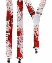 Halloween witte bretels bloedvlekken volwassenen