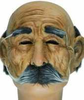 Halve oude mannen masker snor