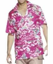 Hawaii shirt roze kleur