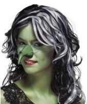 Heksen neus groen elastiek