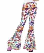 Hippie broek wit love dames