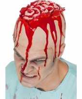 Horror hersenen pruik kapje