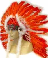 Indianen hoofdtooien rood oranje