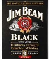 Jim beam black muurplaat x