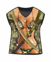 Kado artikelen t-shirt legervrouw