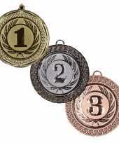Kampioenen medailles goud zilver brons