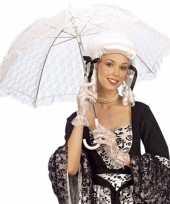 Kant paraplu wit