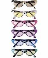Katachtige glimmende brillen