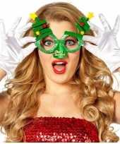 Kerst feest verkleed bril groen kerstbomen volwassenen