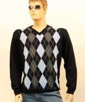 Luxe heren pullover blue