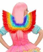 Luxe regenboog veren vleugels