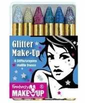 Metallic glitter schmink stiften stuks