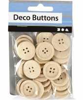 Naai accessoires blank houten knopen stuks 10092936