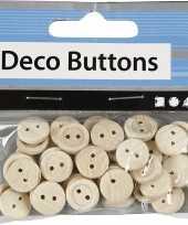 Naai accessoires blank houten knopen stuks