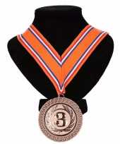 Nederland medaille nr lint oranje rood wit blauw 10091800