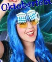 Oktoberfest feestbril bierglas
