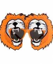 Oranje supporters bril leeuw
