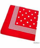 Ouderwetse zakdoek rood wit