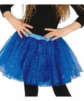 Petticoat tutu verkleed rokje kobalt blauw glitters meisje