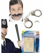 Politie accessoires verkleedset volwassenen